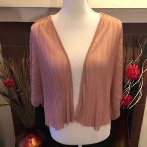 XXI Sheer Pleated Open Face Shrug Size L
